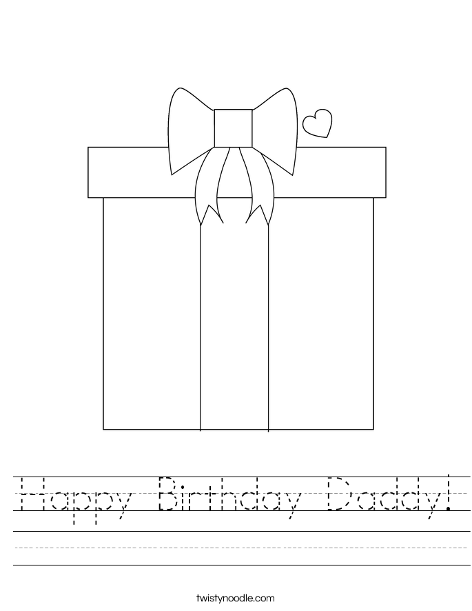 Happy Birthday Daddy! Worksheet