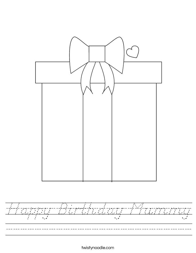 Happy Birthday Mummy Worksheet