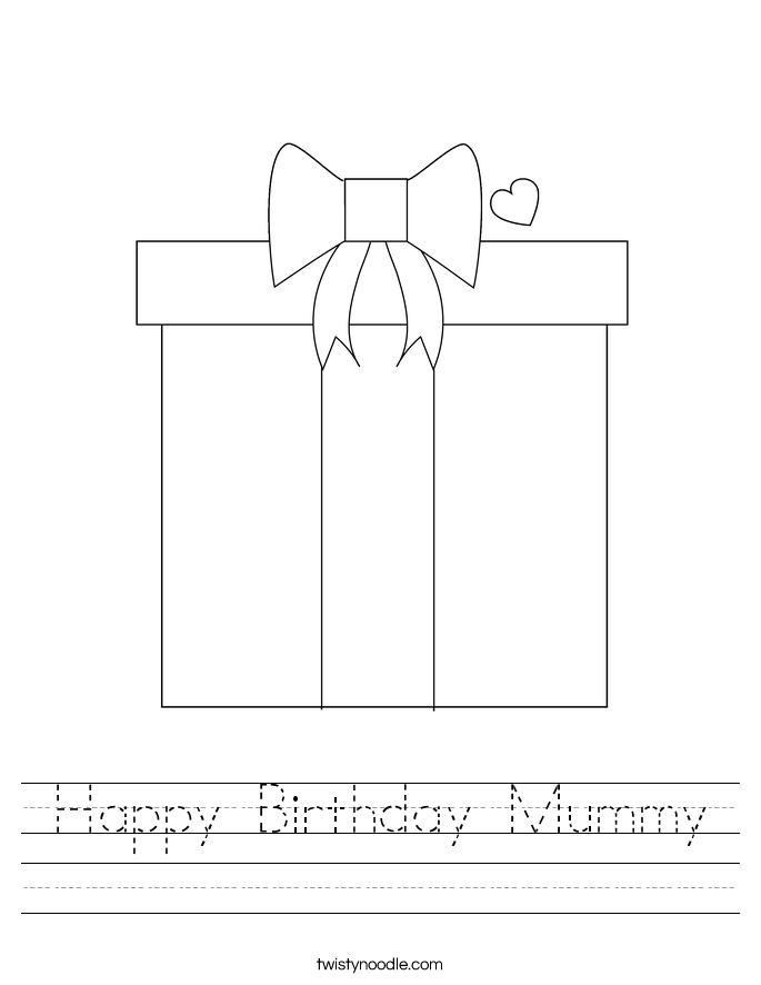 Happy Birthday Mummy Worksheet