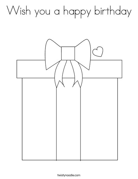 Present Coloring Page