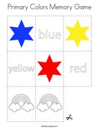 Primary Colors Memory Game Coloring Page