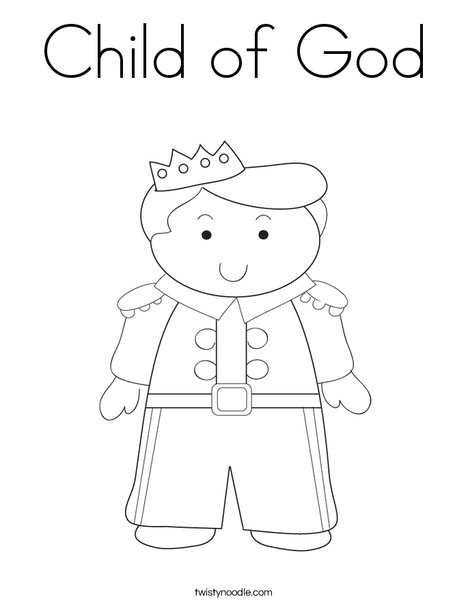 Child of god coloring page twisty noodle for I am a child of god coloring page