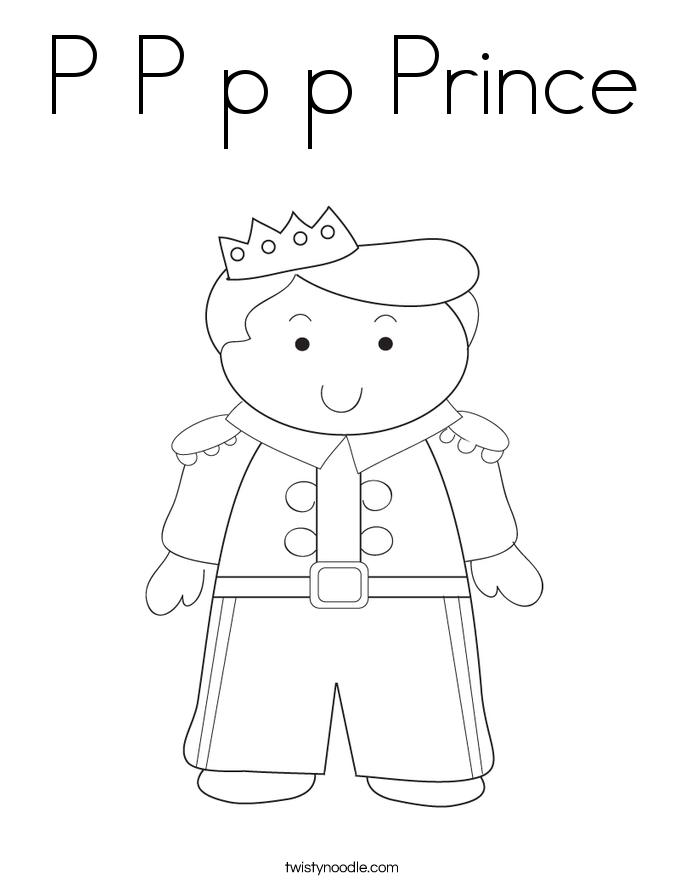 P P p p Prince Coloring Page