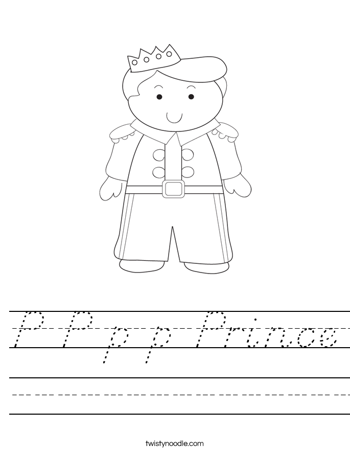 P P p p Prince Worksheet