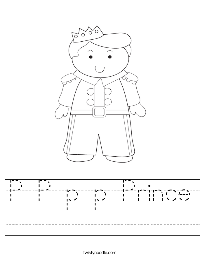 P P p p Prince Worksheet