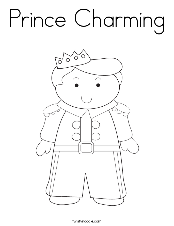Prince Charming Coloring Page