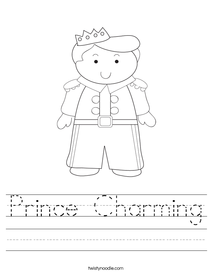 Prince Charming Worksheet
