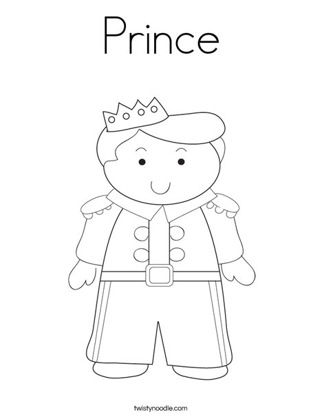prince coloring pages Prince Coloring Page   Twisty Noodle prince coloring pages