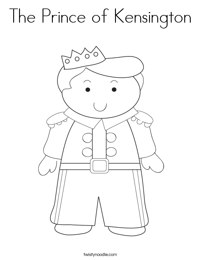 The Prince of Kensington Coloring Page