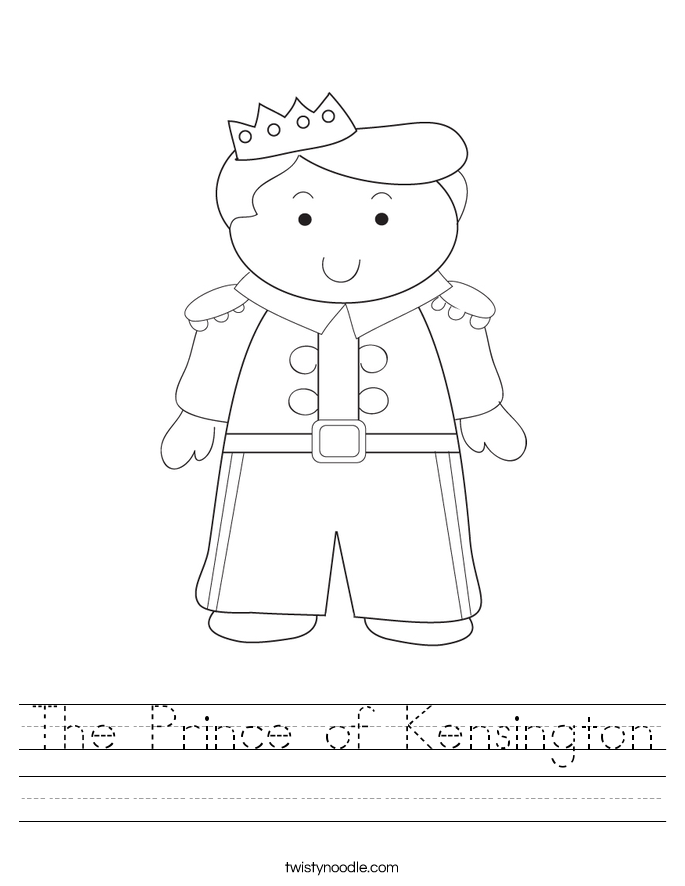 The Prince of Kensington Worksheet