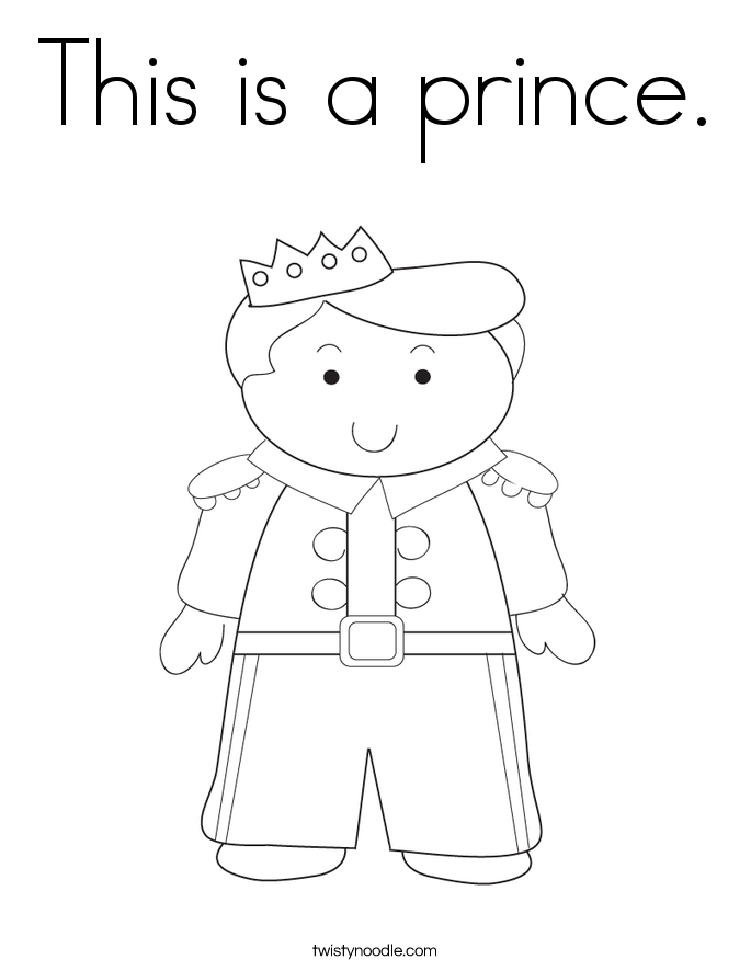 This is a prince. Coloring Page