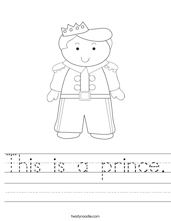 This is a prince. Worksheet