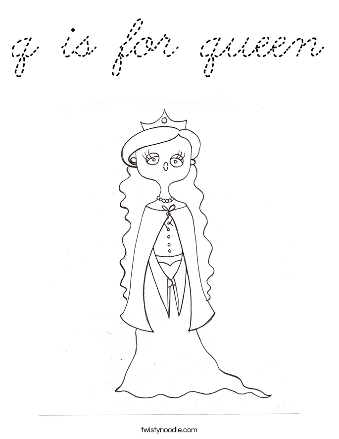 p is for princess coloring pages - photo #29