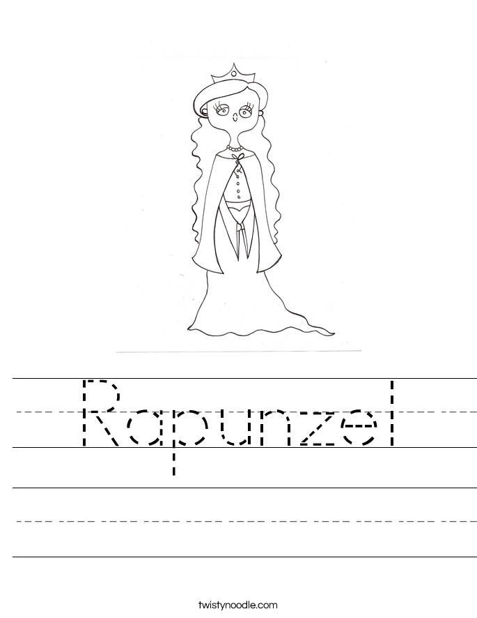 Rapunzel Worksheet