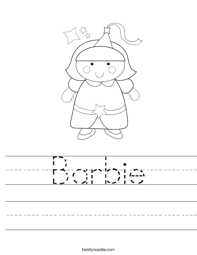 Barbie Worksheet