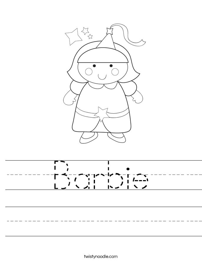 Barbie Worksheet