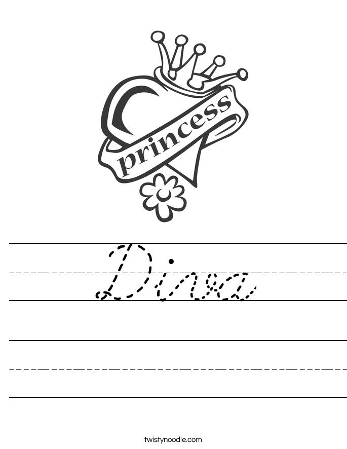 Diva Worksheet