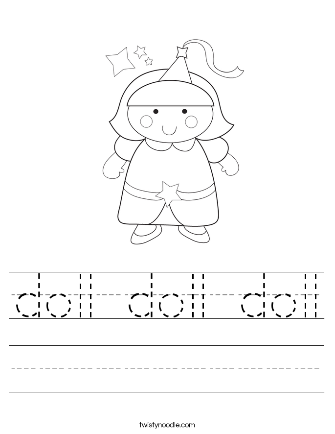 doll doll doll Worksheet - Twisty Noodle