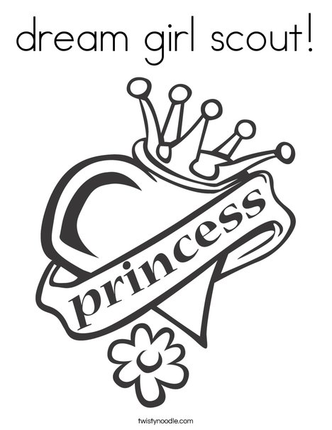 Heart with Crown Coloring Page
