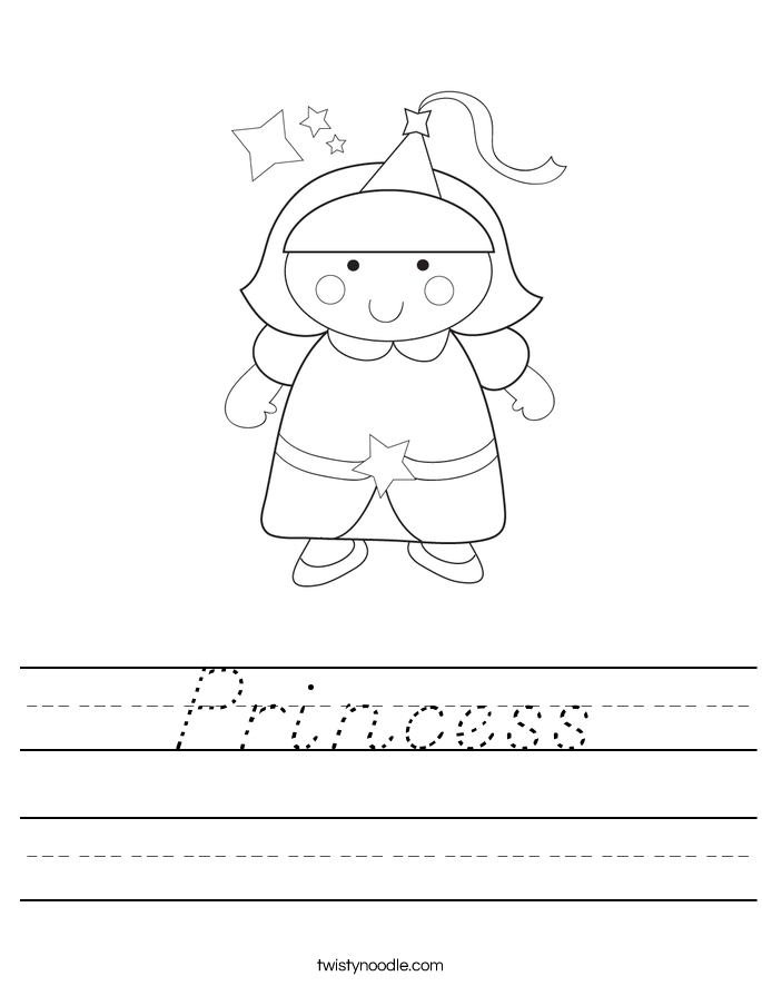 Princess Worksheet