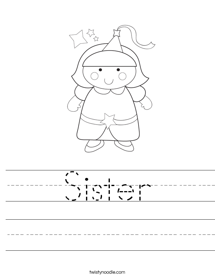 Sister Worksheet Twisty Noodle