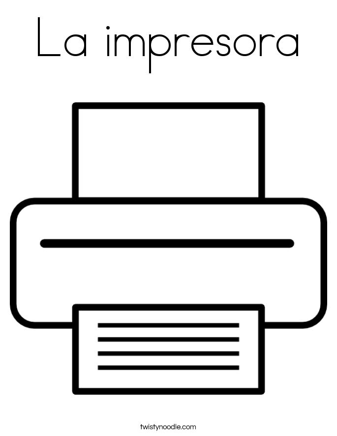 La impresora Coloring Page