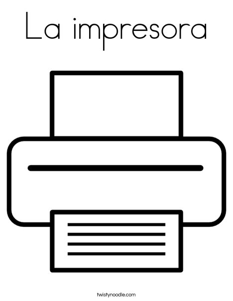 Printer Coloring Page