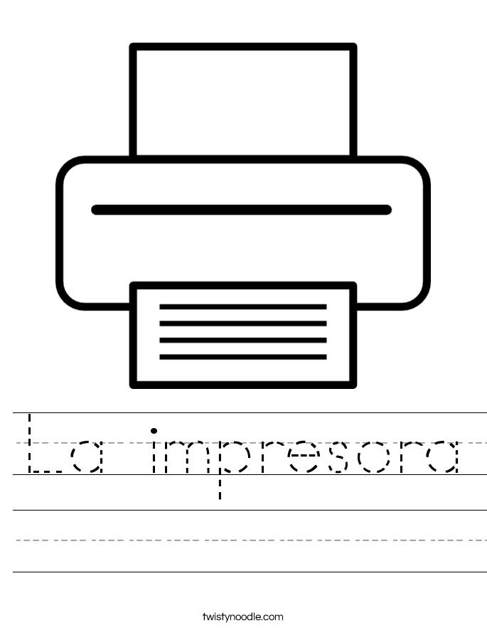 La impresora Worksheet
