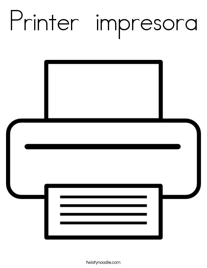 Printer  impresora Coloring Page
