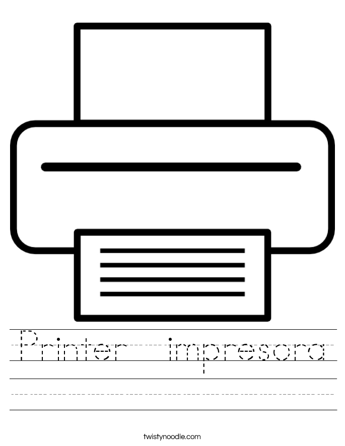 Printer  impresora Worksheet
