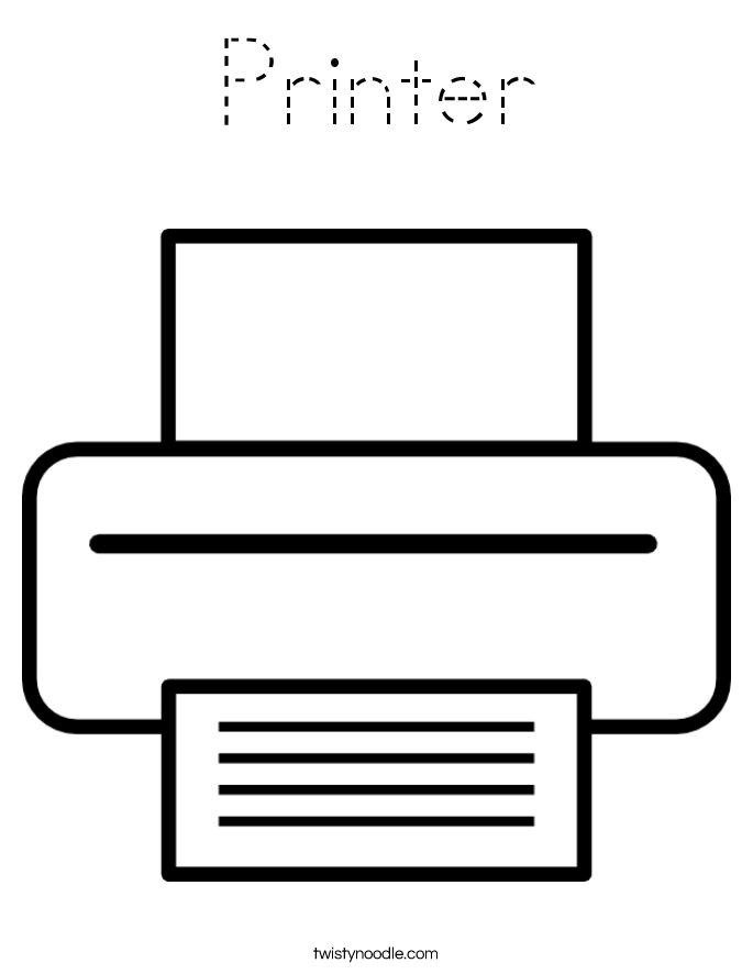 Printer Coloring Page