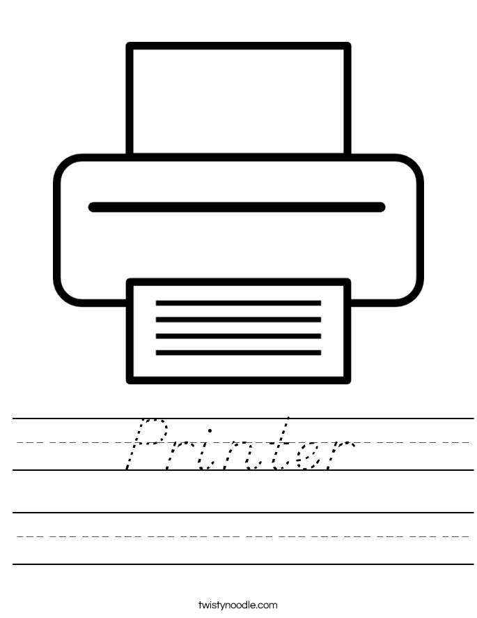 Printer Worksheet