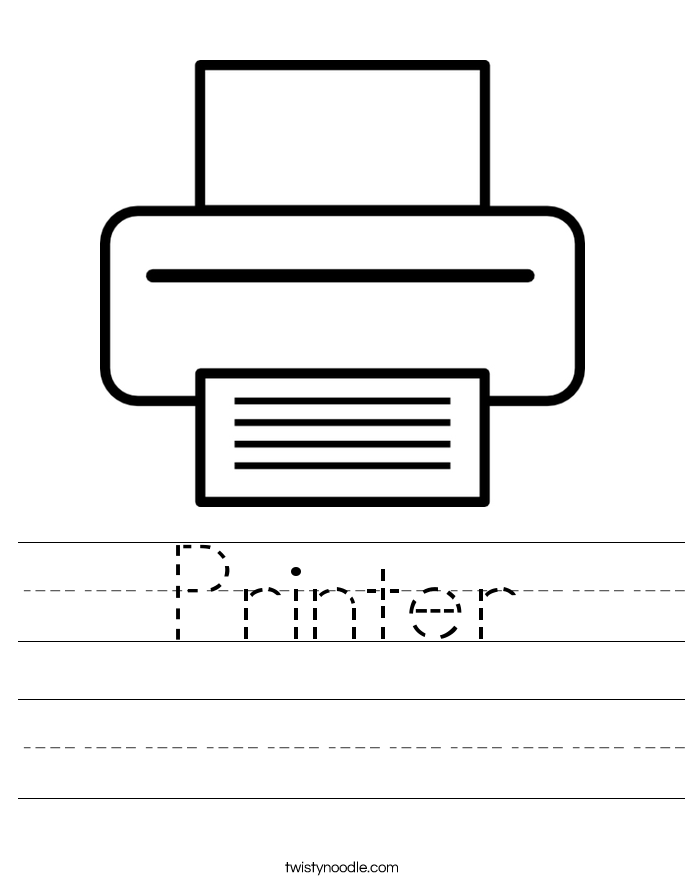 Printer Worksheet