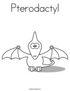 Pterodactyl Coloring Page