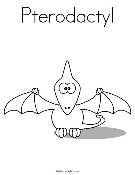 Pterodactyl Coloring Page Twisty Noodle Pterodactyl Coloring Pages
