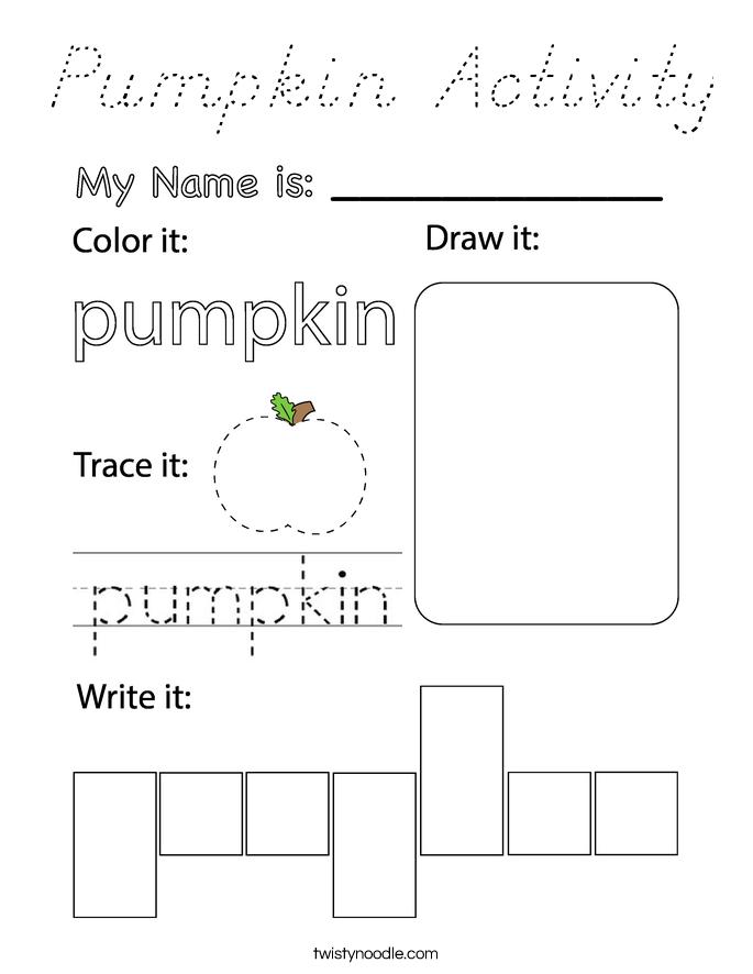 Pumpkin Activity Coloring Page
