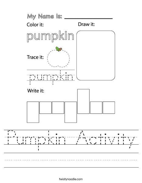 Pumpkin Activity Worksheet