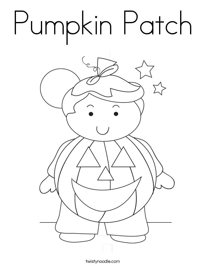 Pumpkin Patch Coloring Page - Twisty Noodle