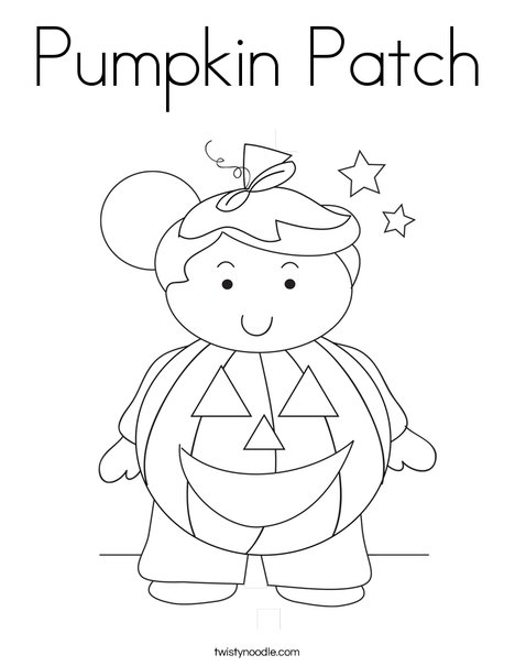 Pumpkin Boy Coloring Page