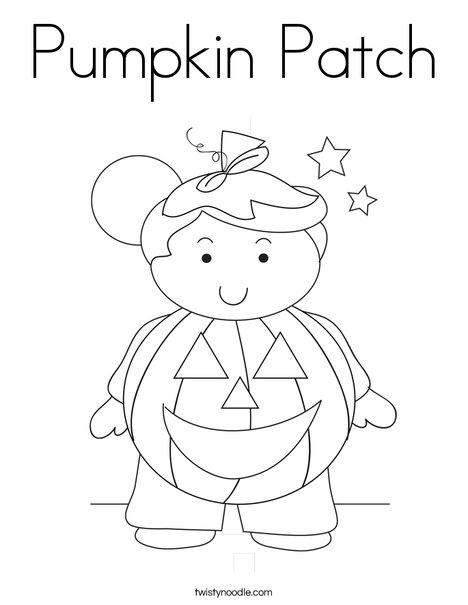 pumpkin patch coloring page twisty noodle