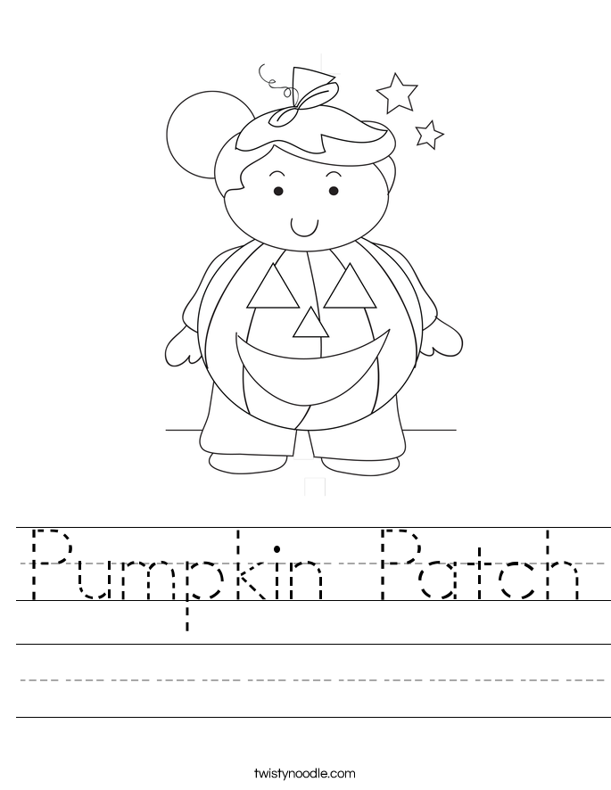 Pumpkin Patch Worksheet