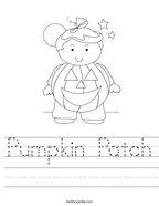 Pumpkin Patch Handwriting Sheet