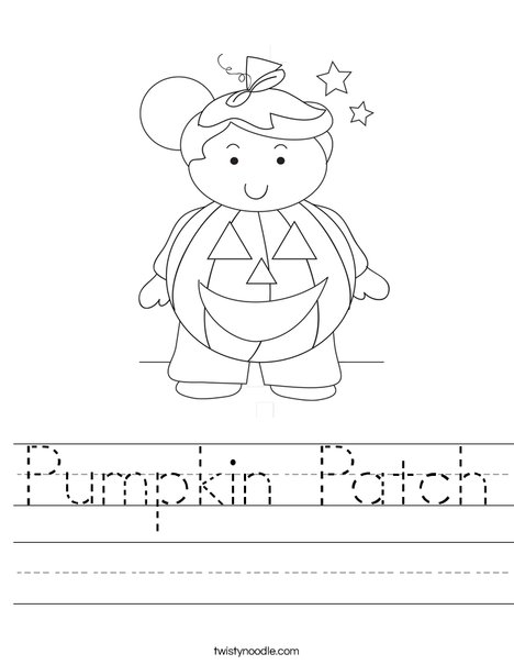 Pumpkin Boy Worksheet