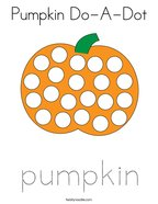 Pumpkin Do-A-Dot Coloring Page