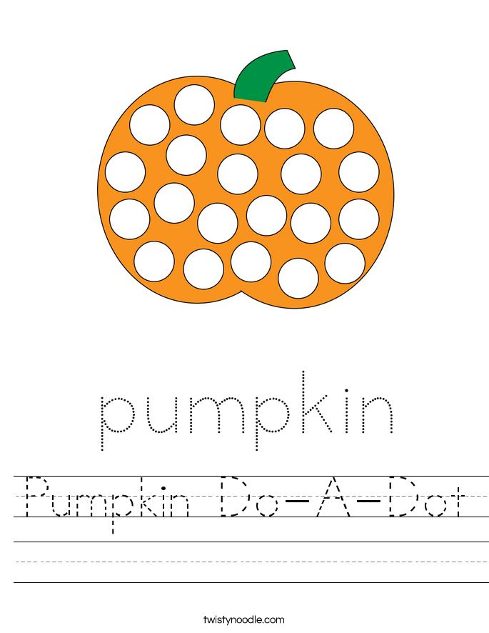 Pumpkin Do-A-Dot Worksheet