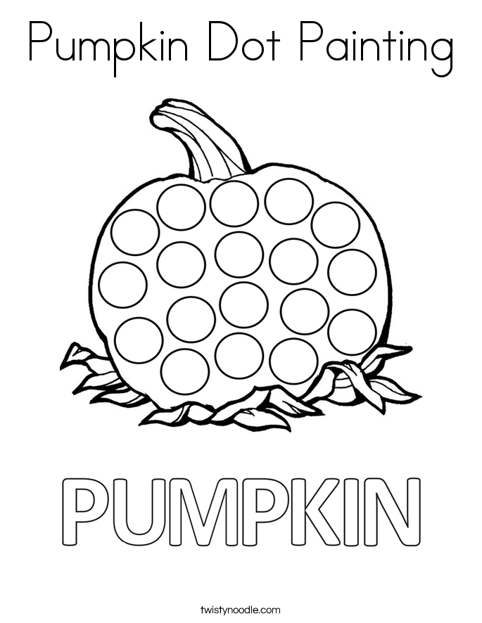 Pumpkin Dot Painting Coloring Page