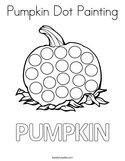 Pumpkin Dot Painting Coloring Page