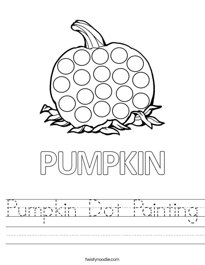 Pumpkin Dot Painting Worksheet