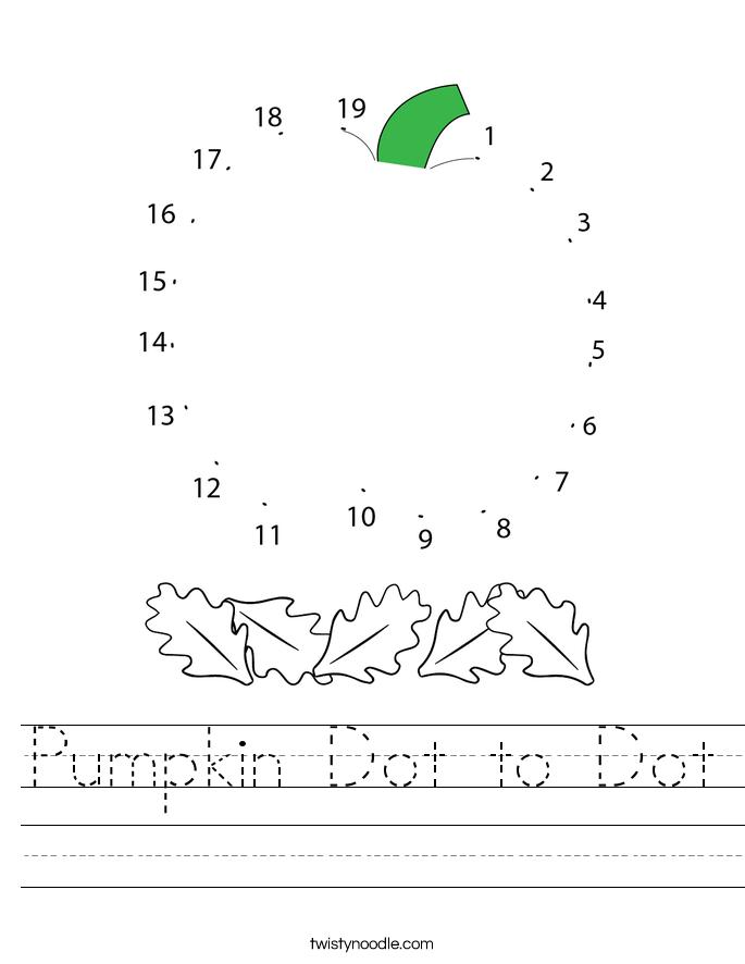 Pumpkin Dot to Dot Worksheet