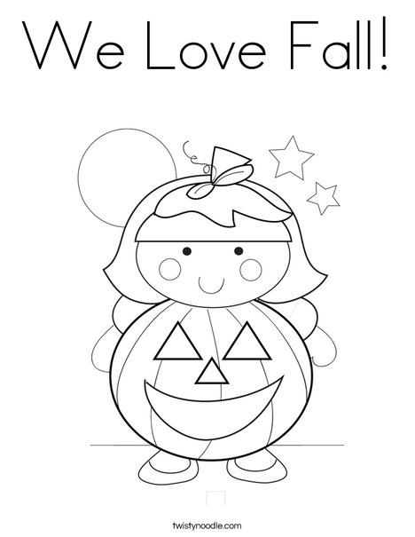 we love zumba coloring pages | We Love Fall Coloring Page - Twisty Noodle